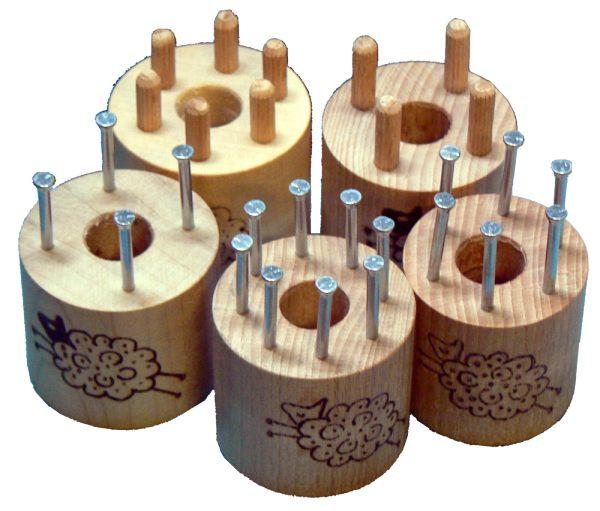 Group of corkwork bobbins